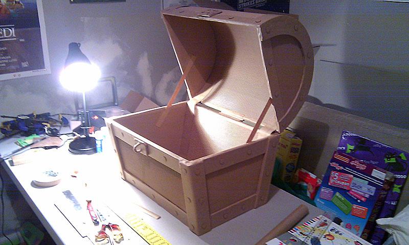 cardboard treasure chest fold out fun. Black Bedroom Furniture Sets. Home Design Ideas